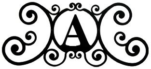 (Village Wrought Iron HP-OD-A House Plaque Letter A)