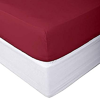 Chocolate, Cal-King Fitted Sheet Soft Collection Bottom Sheet Only Prince Lionheart Inc Luxury Collection 600 Thread Count Fits Mattress Upto 20 inch Deep Pocket 1 Piece