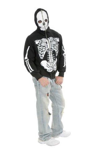 Teen Skeleton Sweatshirt Hoodie (Skeleton Hoodie Teen Costume)