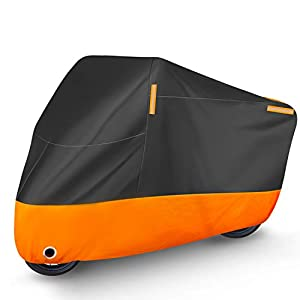 Puroma Motorcycle Cover, XXX-Large Waterproof Motorbike Cover Outdoor Indoor Scooter Shelter Protection with 4…