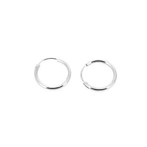 K-DESIGN Sterling Silver 925 Jewelry Earring Hoop / 15mm Small Size Earring Hoop