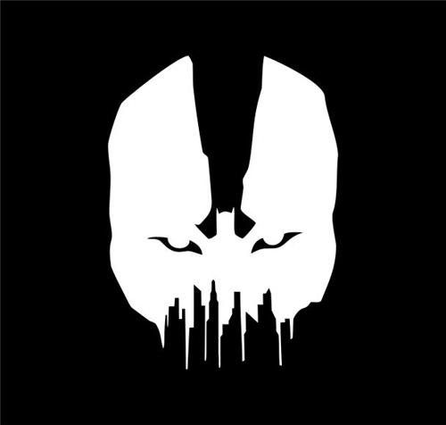 [Bane Batman Vinyl Decal Sticker|Cars Trucks Vans Walls Laptops|WHITE|5 In|KCD533] (Easy Bane Costumes)