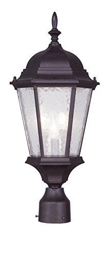 Livex Lighting 7563-07 Hamilton 3 Light Outdoor Post Head, Bronze