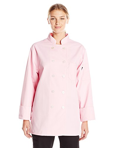 Dickies Chef Women's Classic Coat, Pink, Large ()