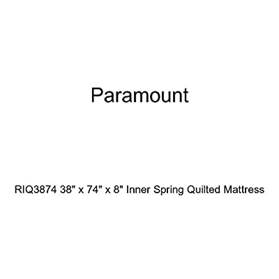 "Paramount RIQ3874 38"" x 74"" x 8"" Inner Spring Quilted Mattress"