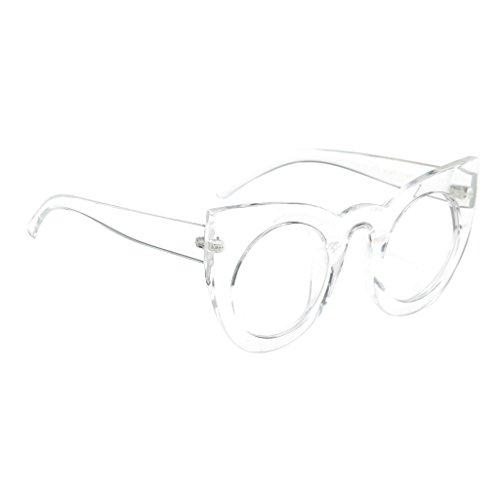 Uv Plastique Soleil 400 Transparent Sunglasses Vintage De Cadre Classique Sharplace Rondes Lunettes wqxH84HBX