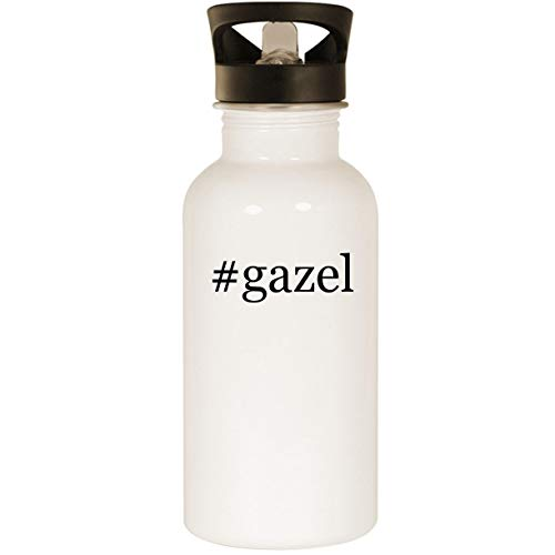 (#gazel - Stainless Steel Hashtag 20oz Road Ready Water Bottle, White)