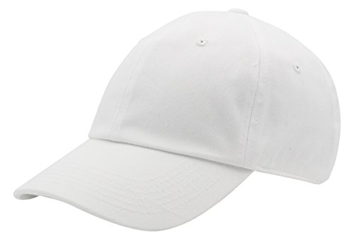 AZTRONA Baseball Cap for Men Women - 100% Cotton Classic Dad Hat, WHT