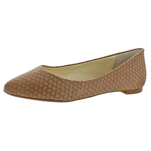 - Jessica Simpson Womens Zeplin Leather Pointed Toe Flats Taupe 12 Medium (B,M)