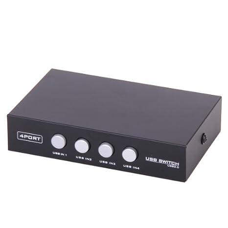 Amazon.com: USB 2.0 Sharing switch 4 Port Comunes para ...