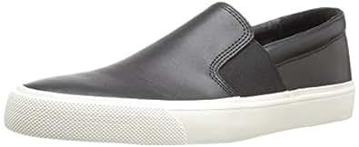 206 Collective Men's Shaw Slip-on Fashion Sneaker, Black, 7 D US