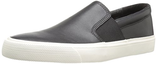 Amazon Brand - 206 Collective Men's Shaw Slip-on Fashion Sneaker, Black, 9.5 D US