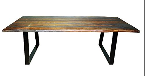 Jamestown Live Edge Dining Table Grey and Black ()