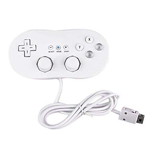 Wired Classic Controller Host Gaming Joystick Gamepad Controller For Wii 1 Remote Console Video Game Accessories - White