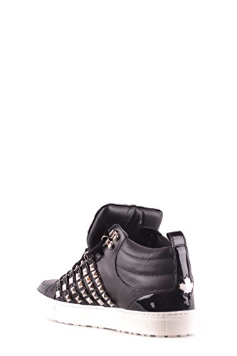 Dsquared2 Herren Mcbi107216o Zwart Leder Hi Top Sneakers