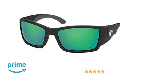 0f1571f9f2 Amazon.com  Costa Del Mar Sunglasses - Corbina- Glass   Frame  Black Lens   Polarized Green Mirror Wave 580 Glass  Clothing