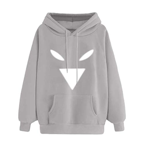 Women's Autumn Print Pocket Hooded Long Sleeve Sweatshirt Casual Tops ()