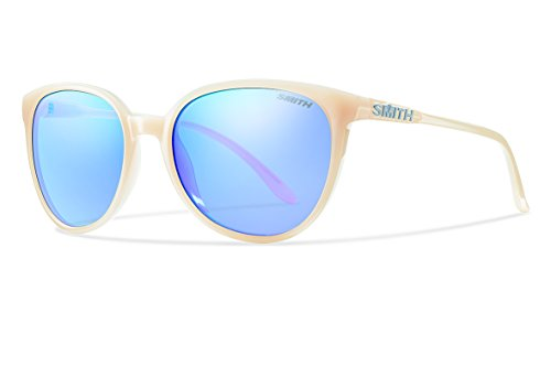 Smith Optics Women's Cheetah Lifestyle Sunglasses, Nude/Blue Flash Mirror, Medium Fit
