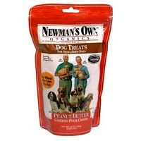 Newman's Own Organics Dog Treats for Small Sized Dogs, Peanut Butter, 10-Ounce Bags (Pack of 6) ( Value Bulk Multi-pack)