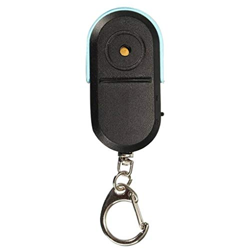 Multifunctional Whistle Voice Control LED Flashing Lights Mini Key Finding Device with Key Chains