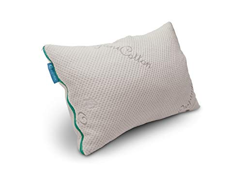 Everpillow by Infinitemoon- Original KAPOK - Premium Fully Adjustable Zippered Original Queen Bed Pillow - 100% Natural Kapok Fill - Organic Cotton Cover