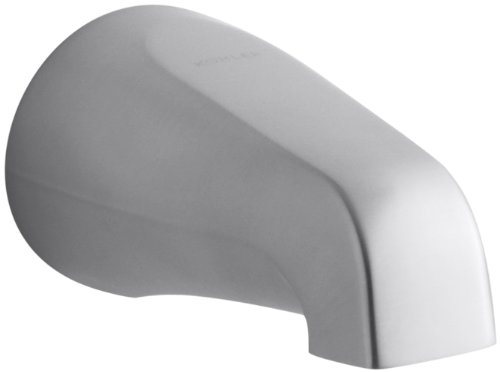 Kohler K-15135-S-G Coralais Non-Diverter Bath Spout with Slip-Fit Connection, Brushed Chrome ()