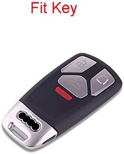 Royalfox for audi old key soft silicone carbon fiber style smart keyless remote Key Fob case Cover For A3 S3 RS3 A4 S4 RS4 A5 S5 RS5 A6 S6 RS6 A7 S7 RS7 A8 S8 Q3 SQ3 Q5 SQ5 Q7 TT TTs TT keychain TM