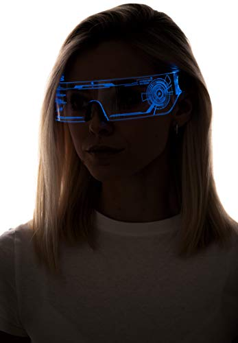 AMAZING COSPLAY GOGGLES: These are just perfect for cosplay, parties and festivals and to get the perfect cyberpunk look UPDATED VERSION: From the reviews you all wanted a switch and a battery cover, our glasses now have this to ensure the glasses ar...
