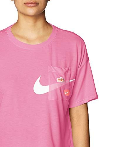 Nike Icon Clash Womens Short Sleeve Training Top (M, Purple/White) 3