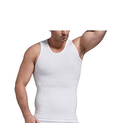 ASO-SLING Men Body Shaper Workout Tank Top Shapewear Slimming Neoprene Vest White