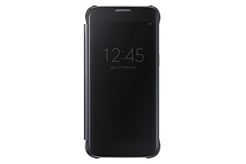 Flip Open Cell - Samsung Galaxy S7 Case S-View Clear Flip Cover - Black (NOT FOR S7 EDGE)