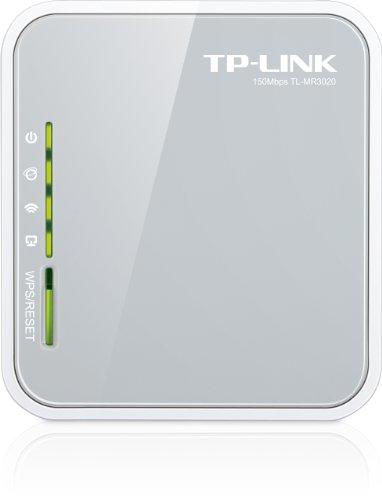 TP-LINK (TL-MR3020 V3) 300Mbps Travel-size Wireless 3G/4G Router, USB, LAN