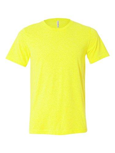 Bella 3650 Unisex Poly-Cotton Short Sleeve Tee - Neon Yellow, 2XL (Cotton Canvas Yellow)