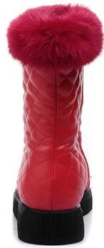 Laruise Women's Snow Boots Red B1SqEXfAtL