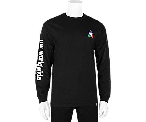 - HUF Prism Triple Triangle LS Shirt