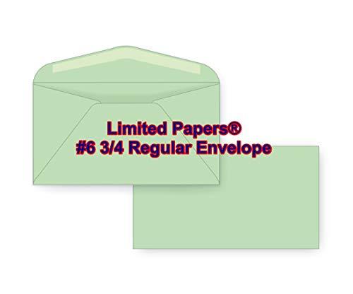 Limited Papers (TM) #6 3/4 Regular Envelope - Pastel - 24# Light Green (3 5/8 x 6 1/2 ()