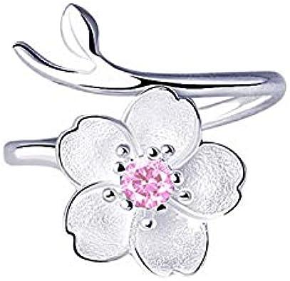 925 Sterling Silver Cherry Blossom Cuff Bracelet Flower Trees Branch gift women