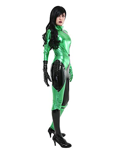 miccostumes Women's Villains Shego Cosplay Bodysuit Deluxe Costume Halloween (S, Green) - http://coolthings.us