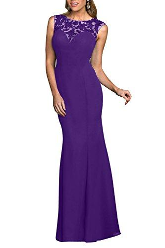 Elegant Chiffon Promkleider Royal Lila Braut Ballkleider mit Abendkleider La Spitze mia Blau Lang Applikation fqBIH