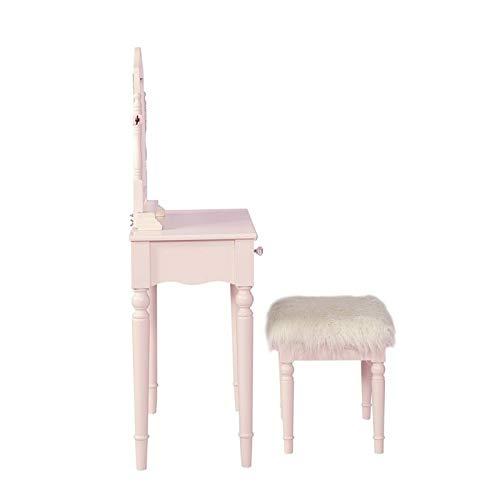 Linon Salise Pink Youth Vanity Set