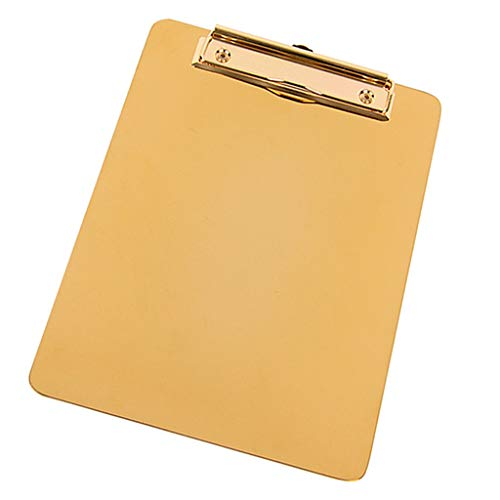 MagiDeal Portable Clipboard Stainless Steel Writing Board Metal Clip Document Holder by Unknown