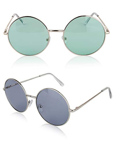 SunnyPro 60 60s 60's Sunglasses 70 90 50 Accessories UV400 Protection Green -