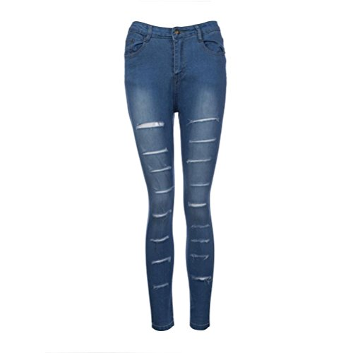 asia Low Rise Scarni Lunghi S In Leggings Matita Denim Donna Jeans Uomogo® Pantaloni Blu Cotone HxAZ7Xxqw