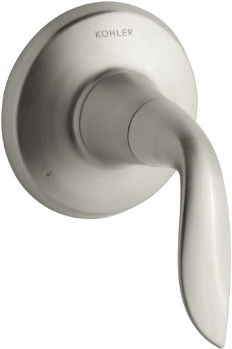 KOHLER K-T5326-4-BN Refinia Transfer Valve Trim, Valve Not Included, Vibrant Brushed Nickel