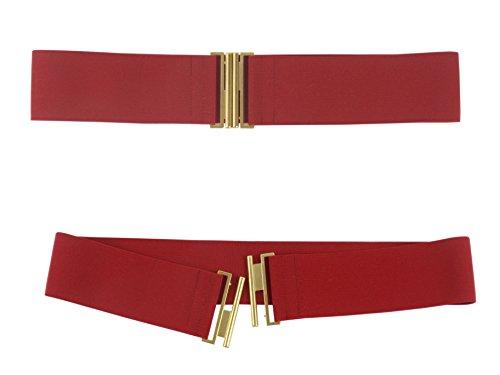 b529c9939e957e 5cm Damen Taillen Stretch Gürtel Matall Gold Farbe Schnalle Größe XS-XL:  Amazon.de: Bekleidung