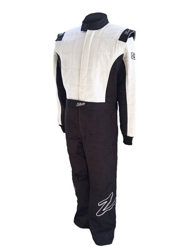 Zamp Men's Suit Multi Layer Black and White Large