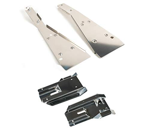 Reliable Complete Chassis Glide+Swing Arm Skid Plate Gaurd Combo Compatible w/Honda TRX400EX - Swing Trx400ex Arm