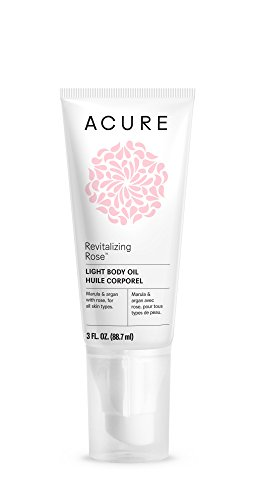 Acure Revitalizing Rose Light Body Oil | 3 Fluid Ounces (Packaging May (Revitalizing Body Oil)