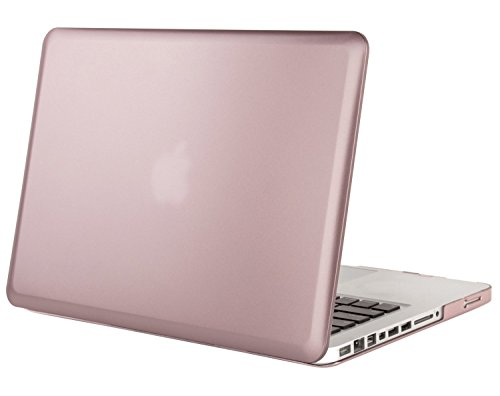 Mosiso Plastic Hard Case Cover Only for Old MacBook Pro 13 Inch with CD-ROM (Model: A1278, Version Early 2012/2011/2010/2009/2008), Rose Gold