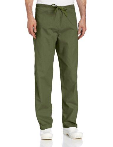 Landau Unisex Reversible Drawstring Scrub Pants, olive, 2X-Large ()